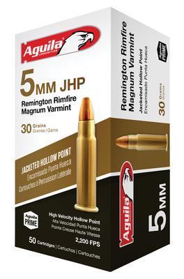 5MM REM RIMFIRE MAG 30GR JHP